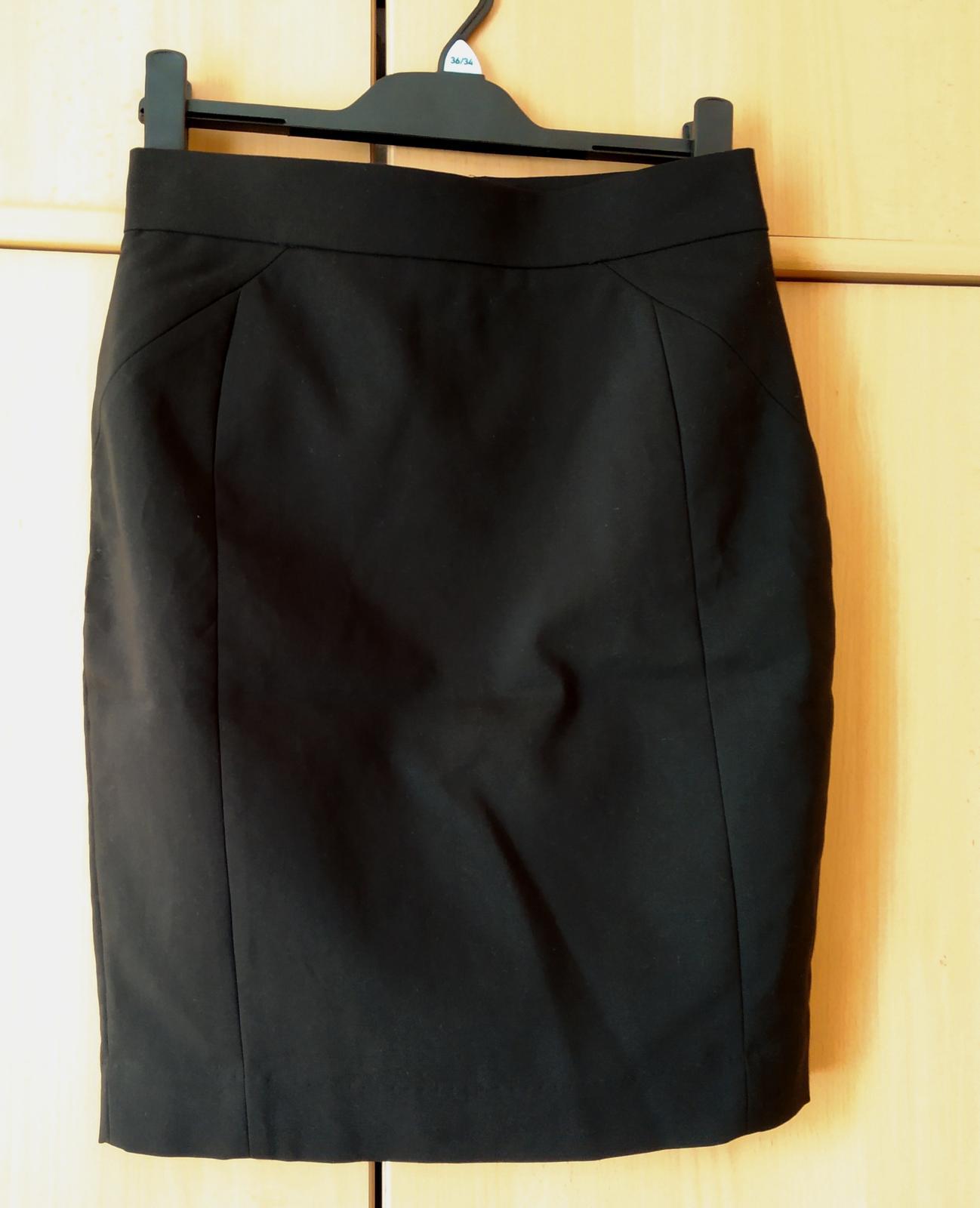 Černá pouzdrová sukně H&M - Obrázek č. 3