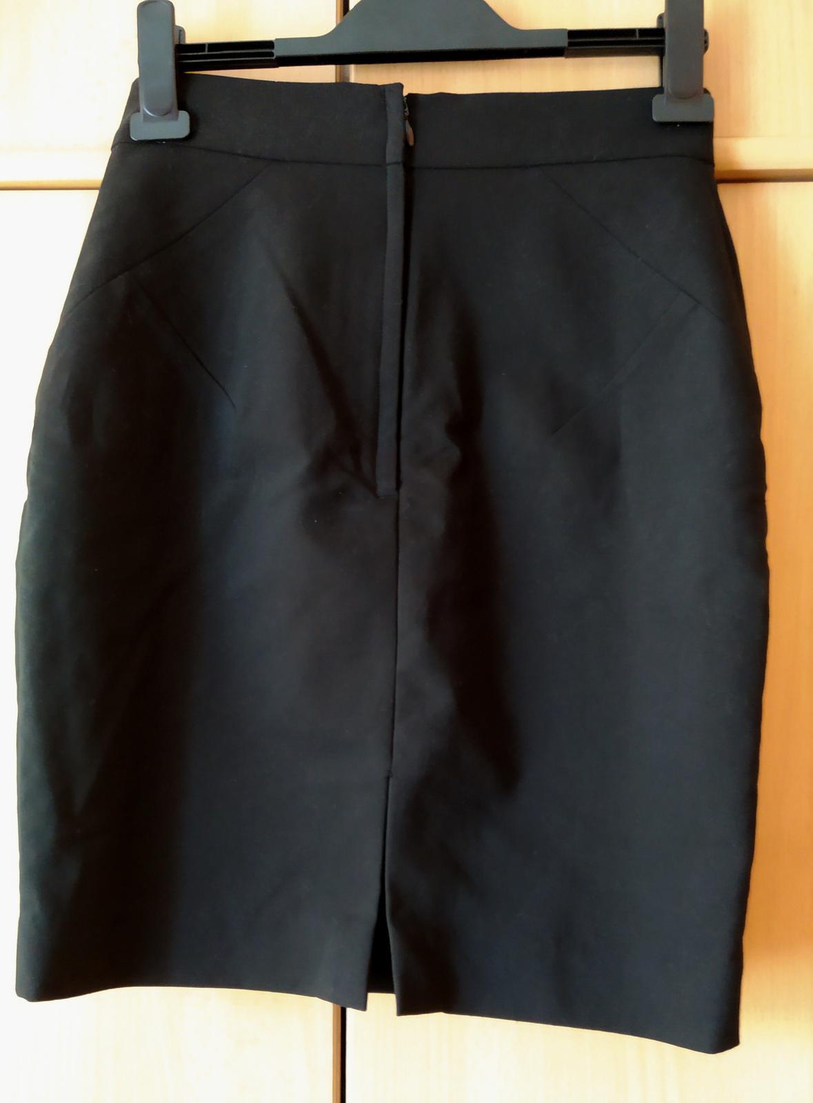 Černá pouzdrová sukně H&M - Obrázek č. 4