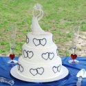 Romantický a jednoduchý dort