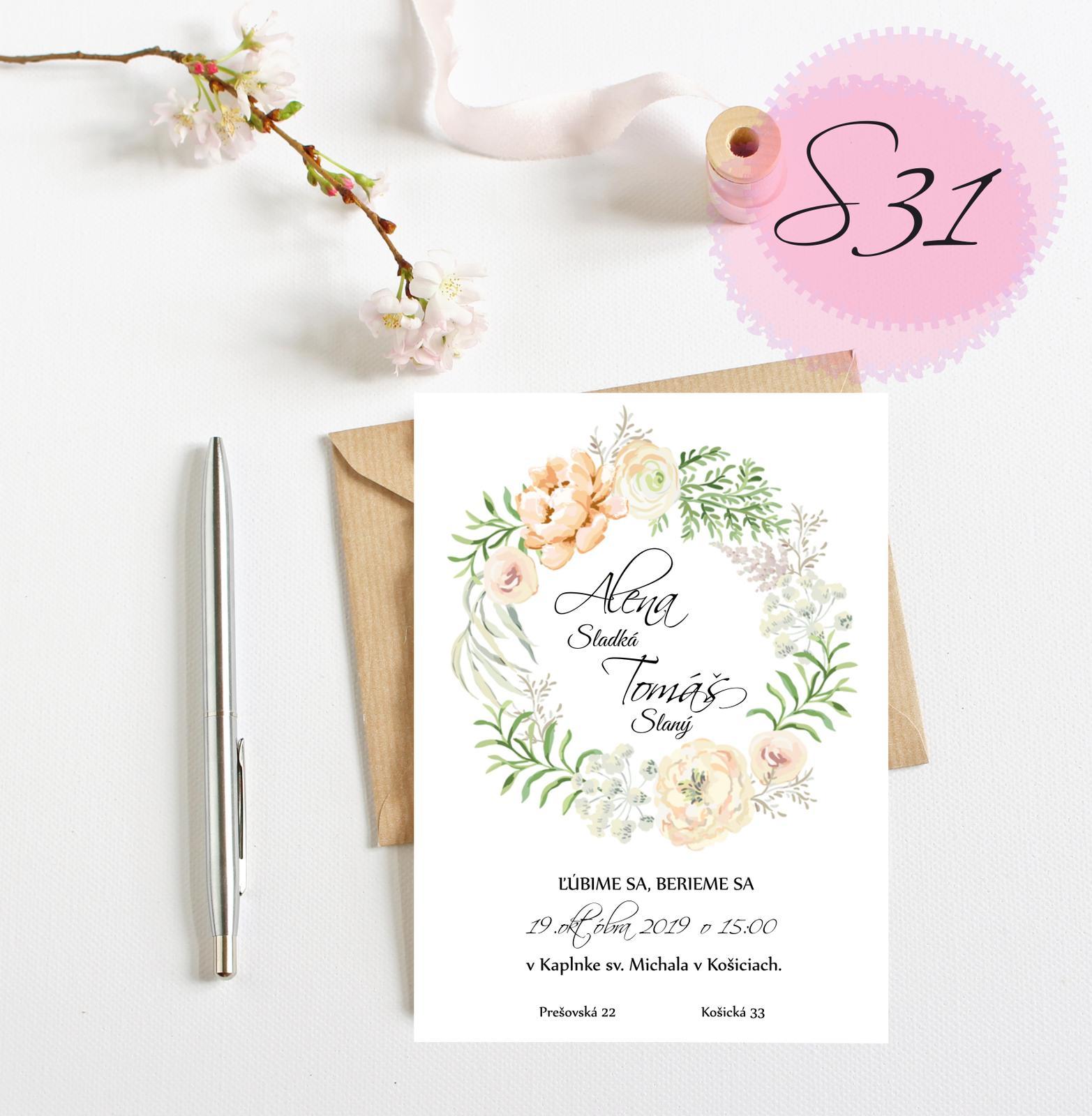 svadobné oznámenie S31 - Obrázok č. 1