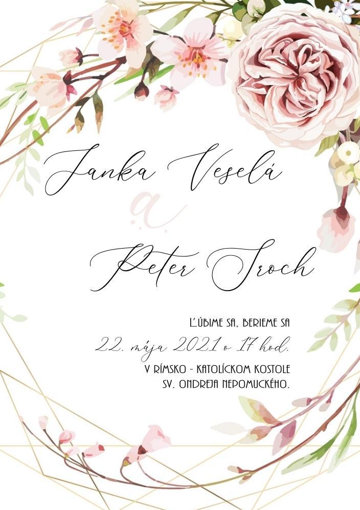ružové svadobné oznámenia - Obrázok č. 3