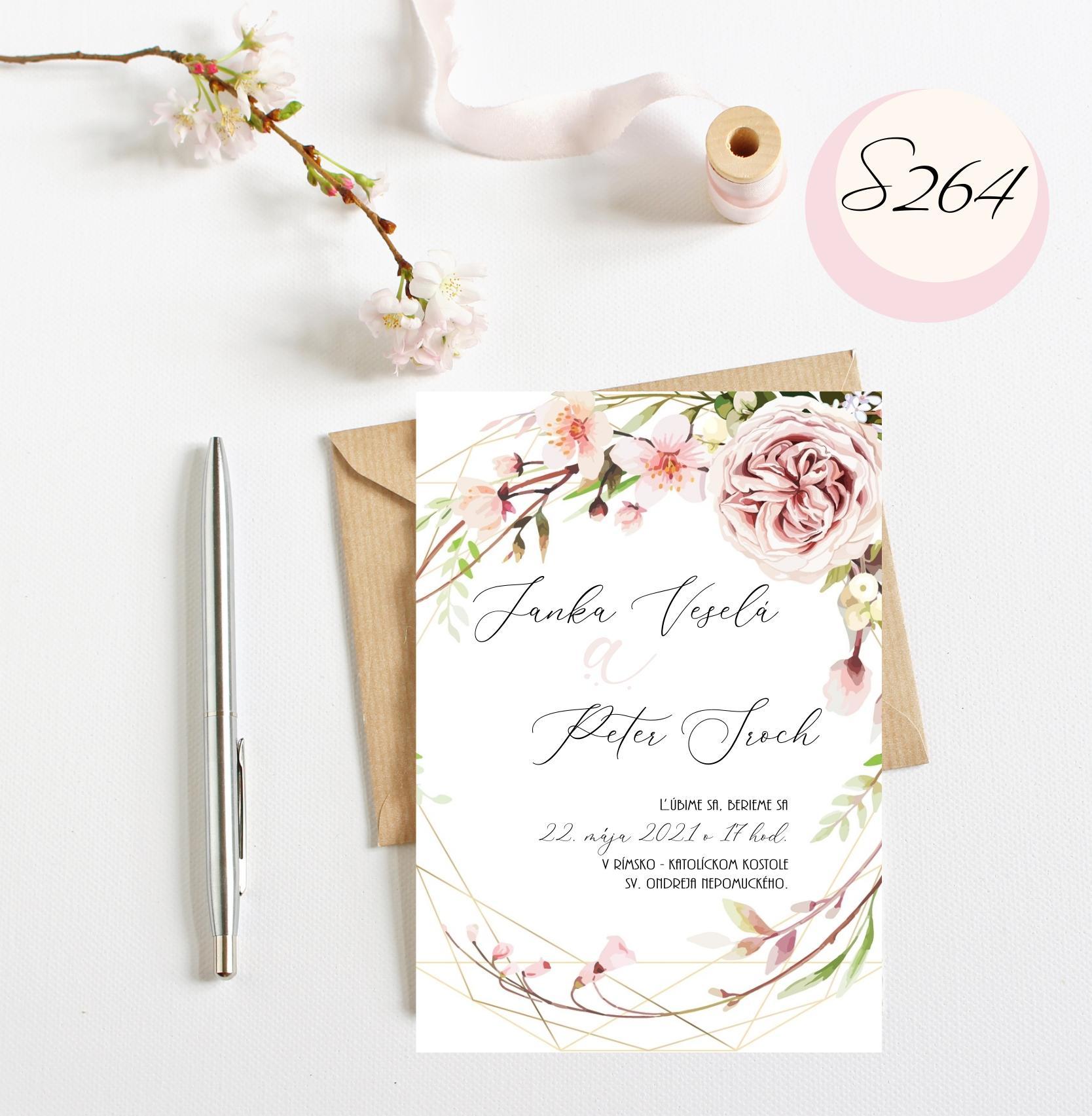 ružové svadobné oznámenia - Obrázok č. 2