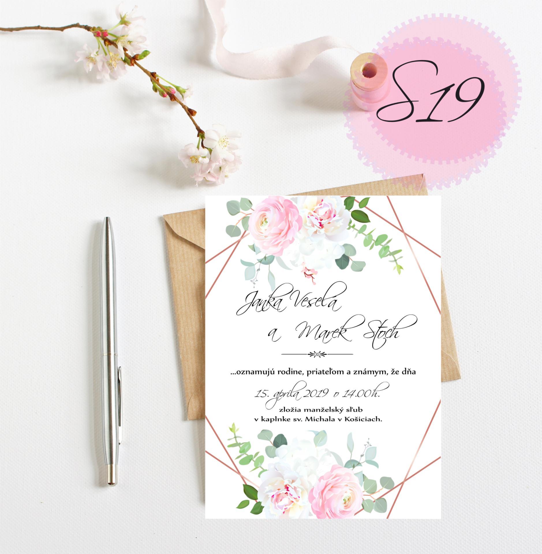 ružové svadobné oznámenia - Obrázok č. 4