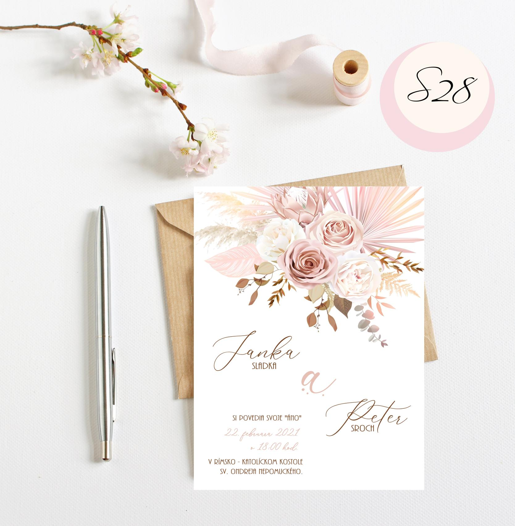 ružové svadobné oznámenia - Obrázok č. 5