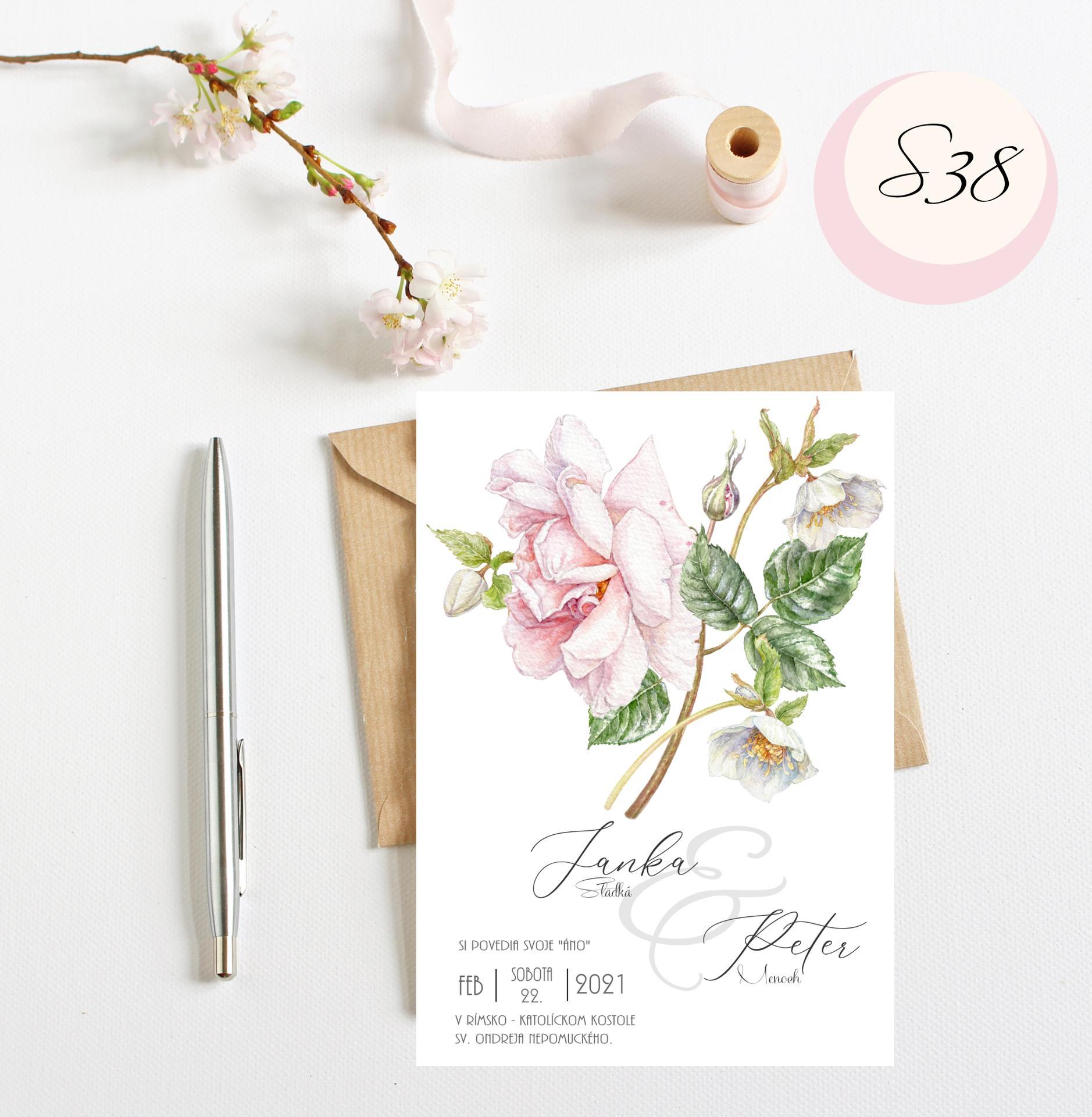 ružové svadobné oznámenia - Obrázok č. 6