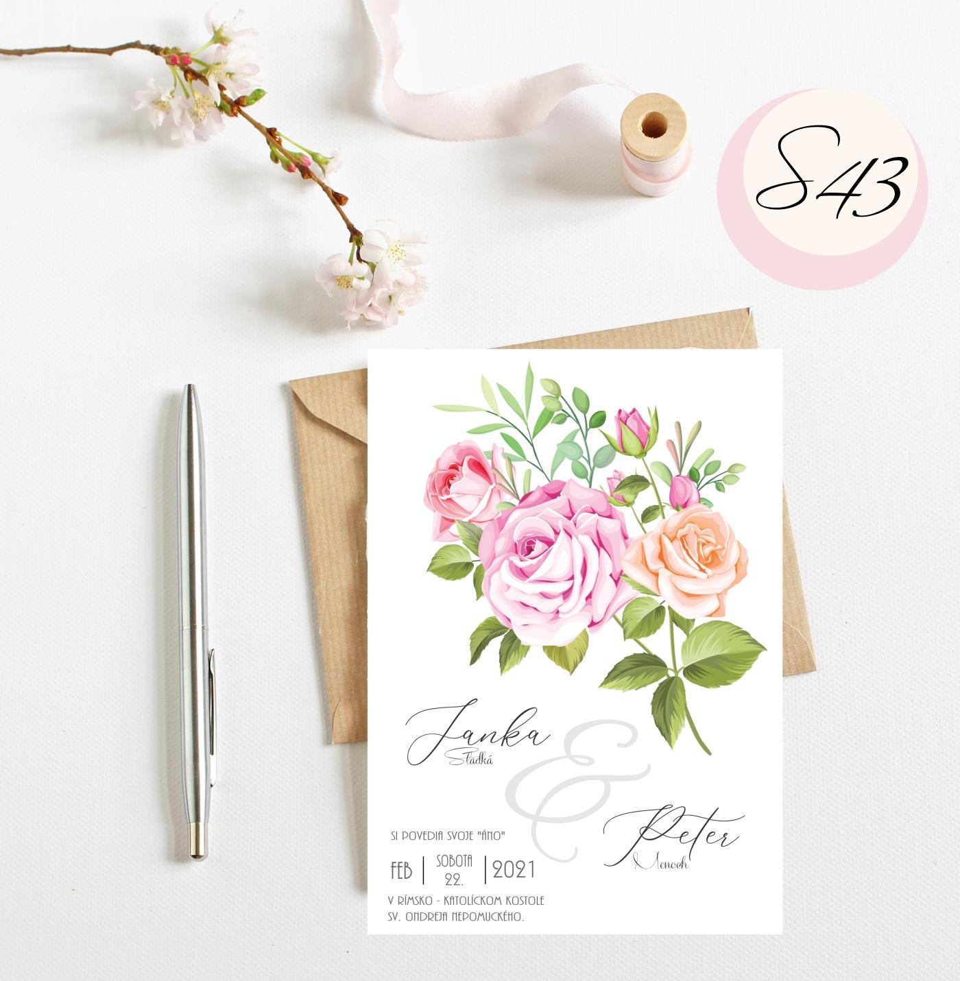 ružové svadobné oznámenia - Obrázok č. 8