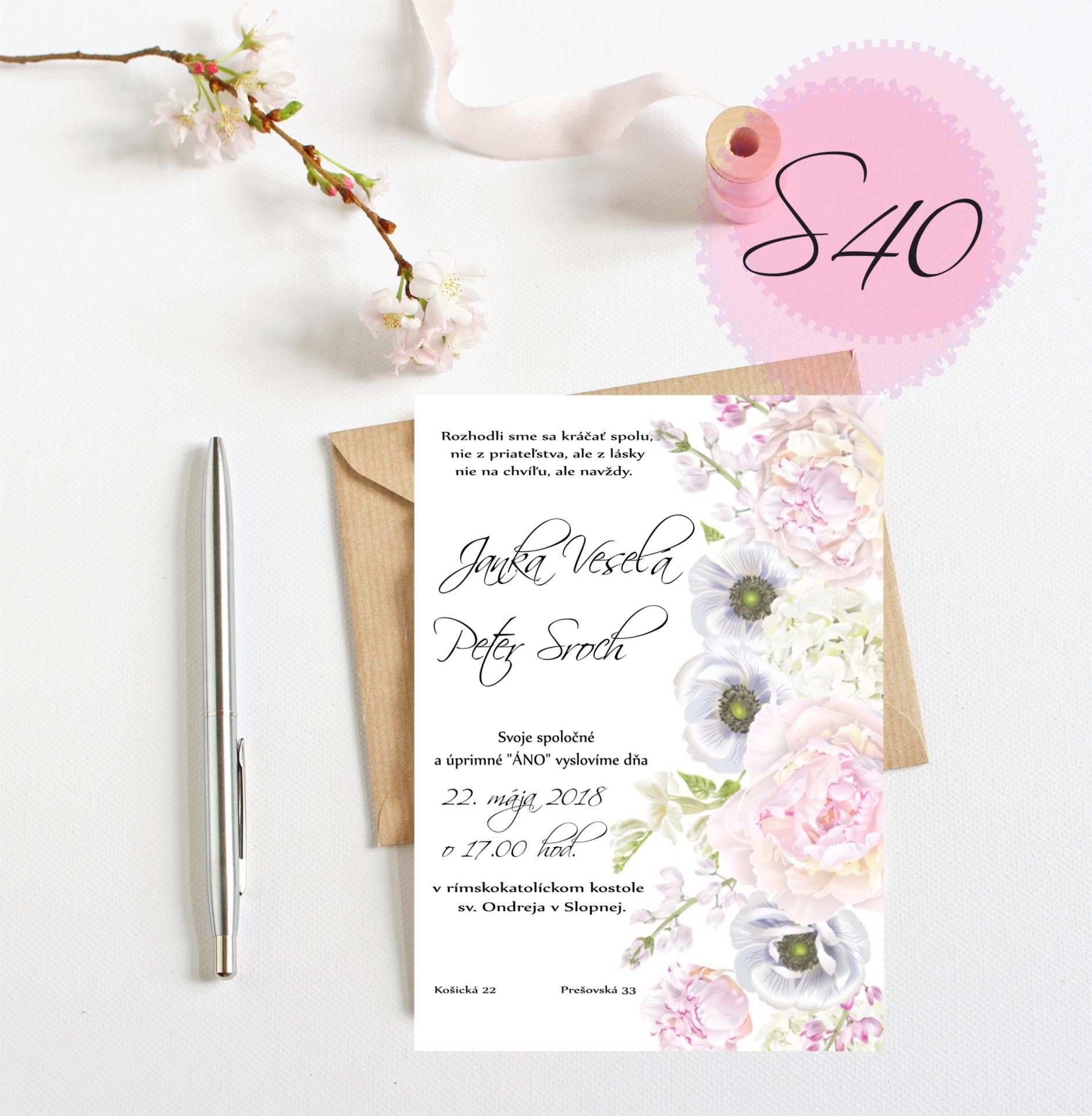 ružové svadobné oznámenia - Obrázok č. 7