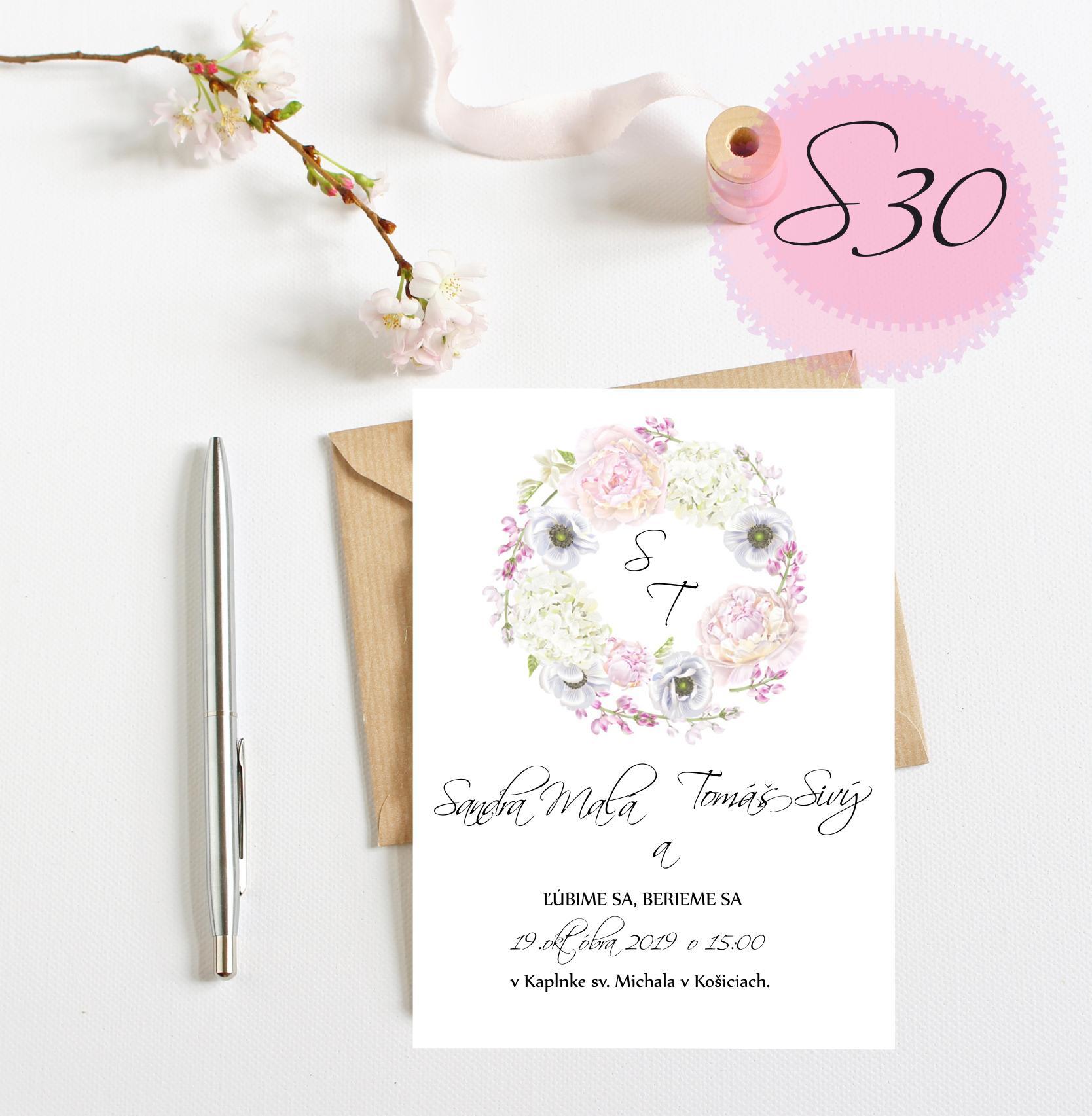 ružové svadobné oznámenia - Obrázok č. 10