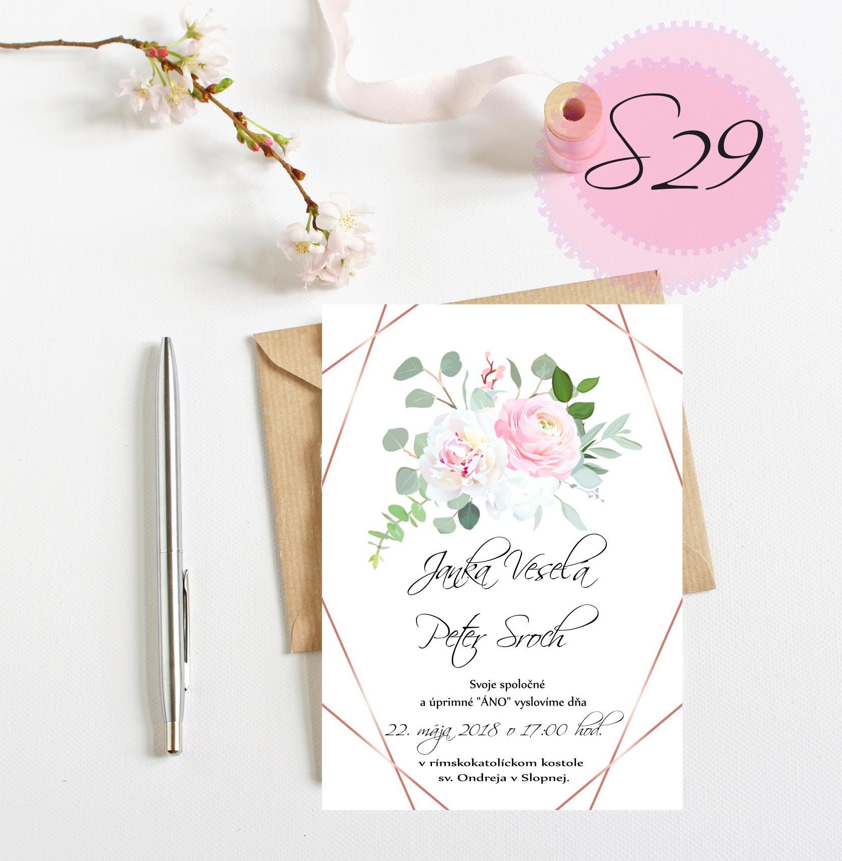 ružové svadobné oznámenia - Obrázok č. 9