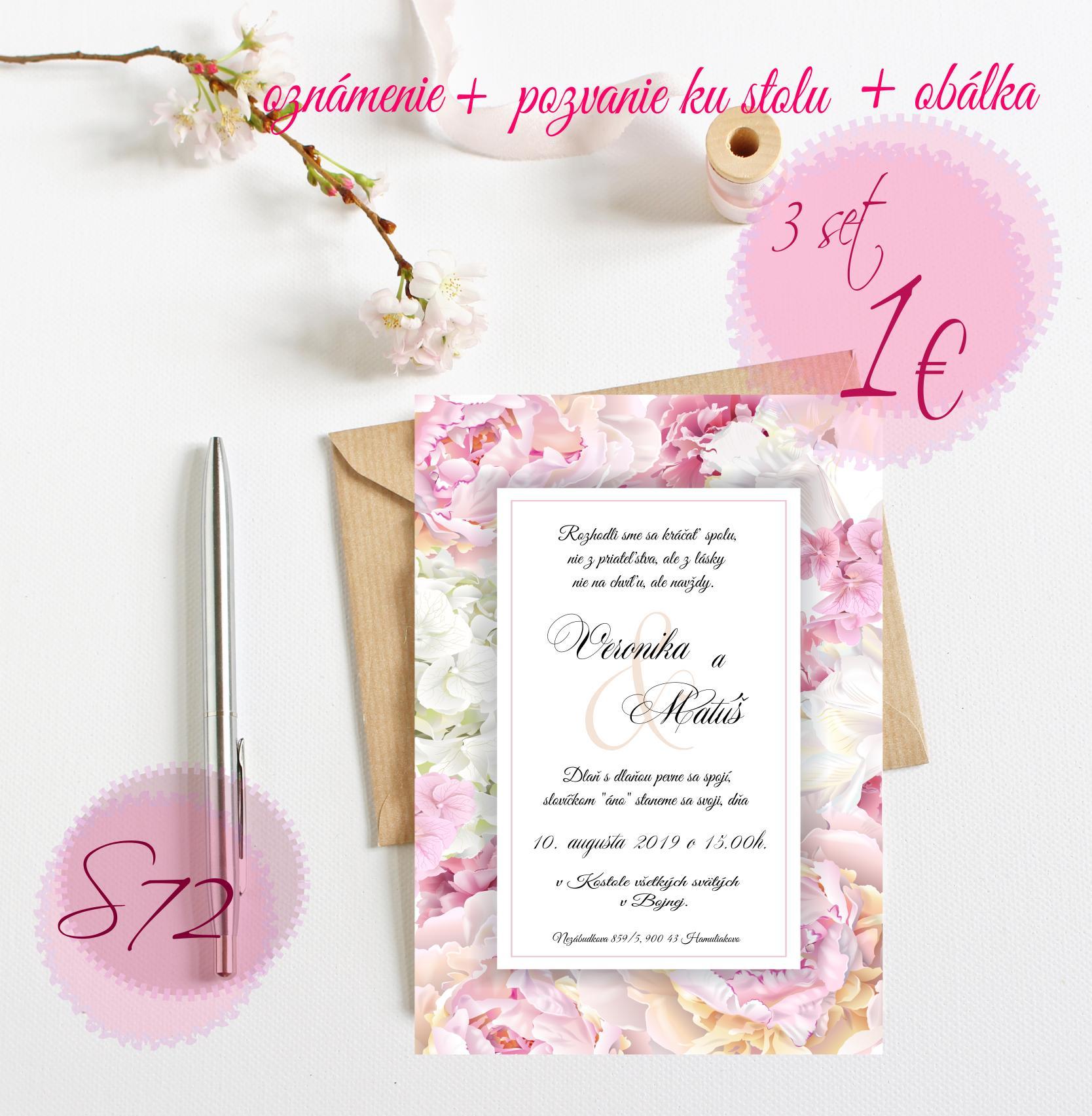 ružové svadobné oznámenia - Obrázok č. 11
