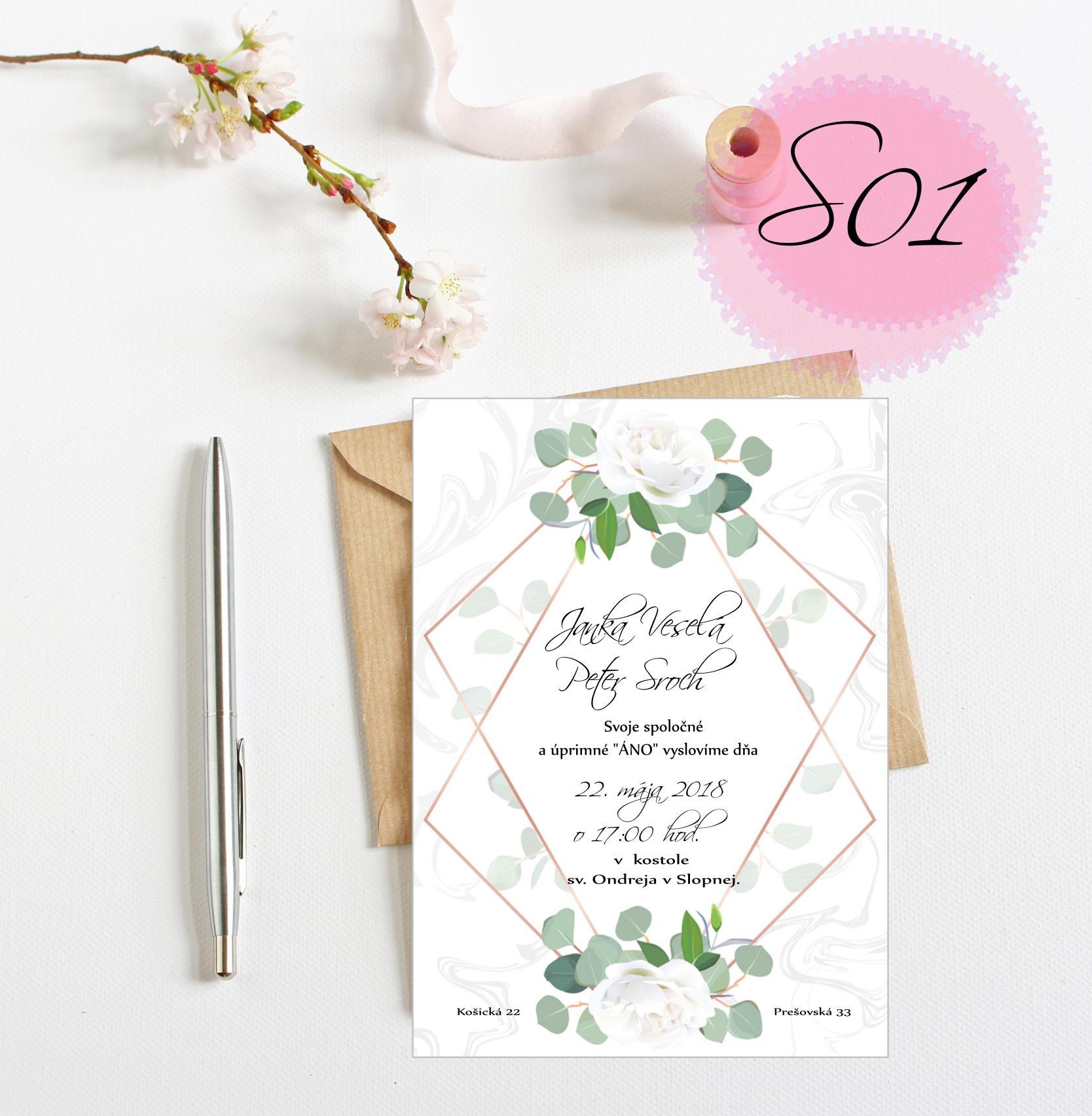 zelené svadobné oznámenia - Obrázok č. 1