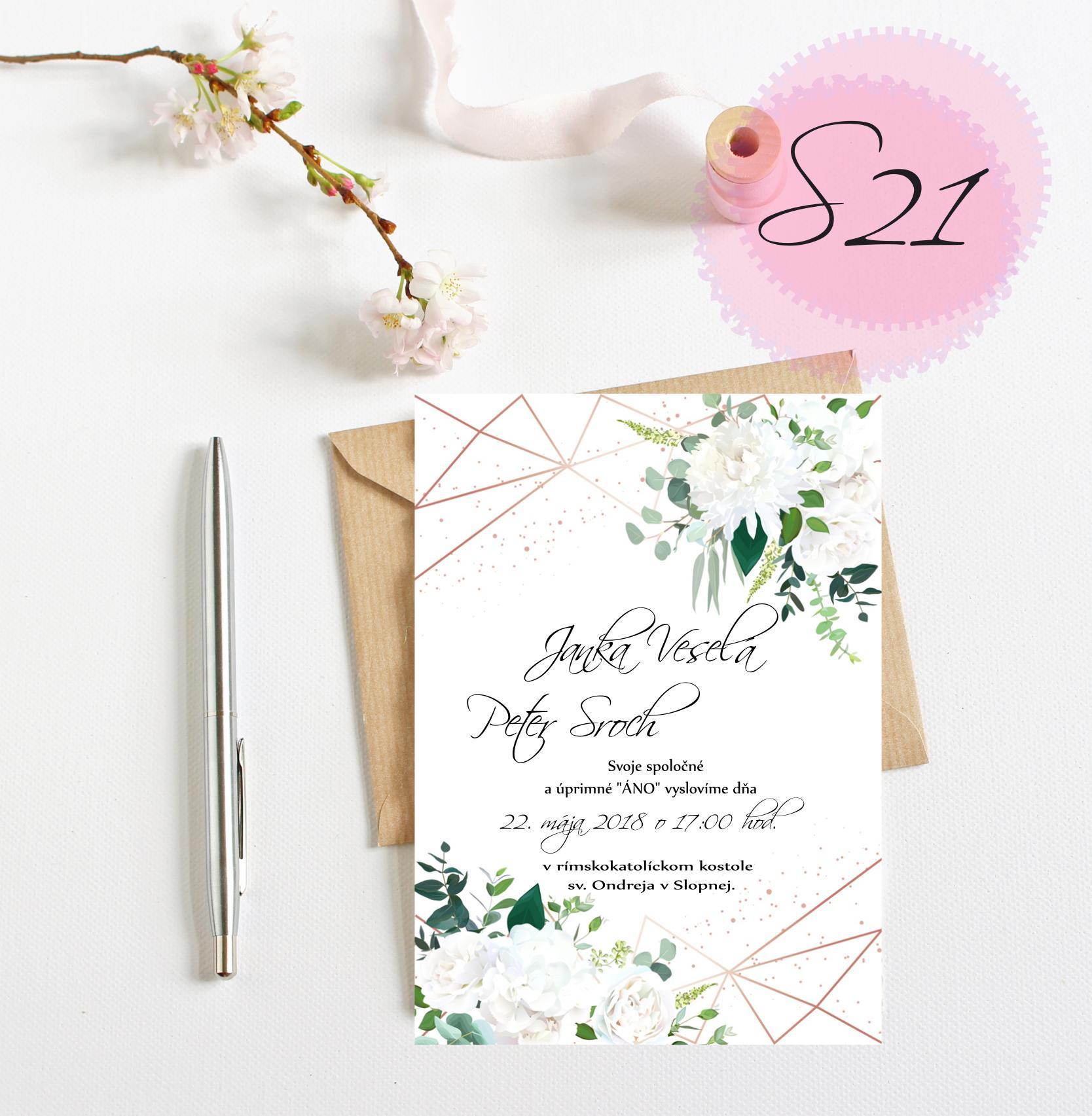 zelené svadobné oznámenia - Obrázok č. 3