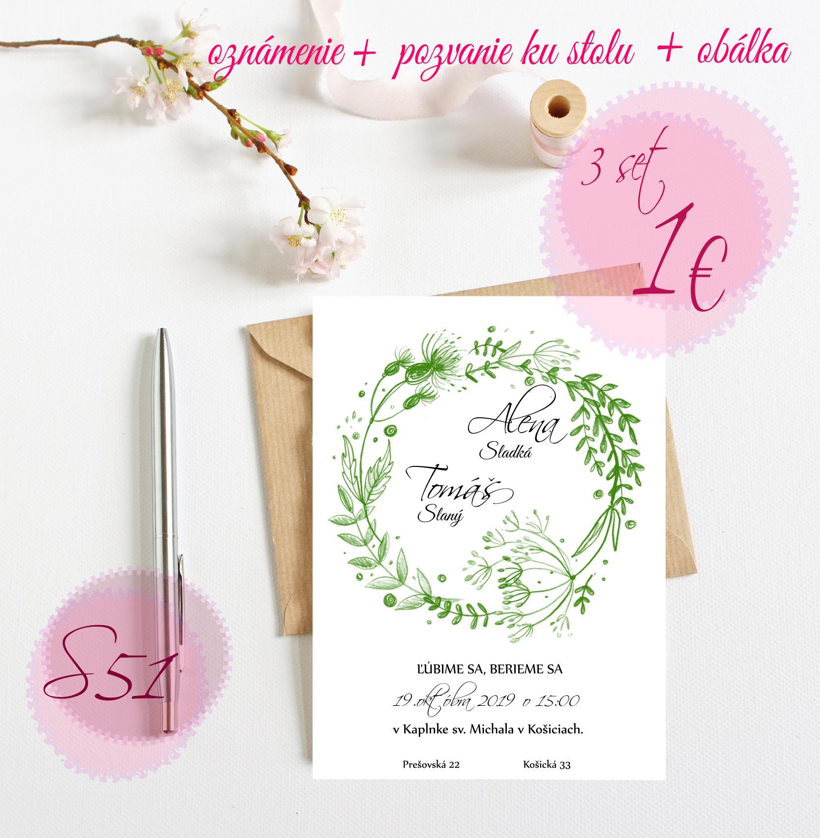zelené svadobné oznámenia - Obrázok č. 6