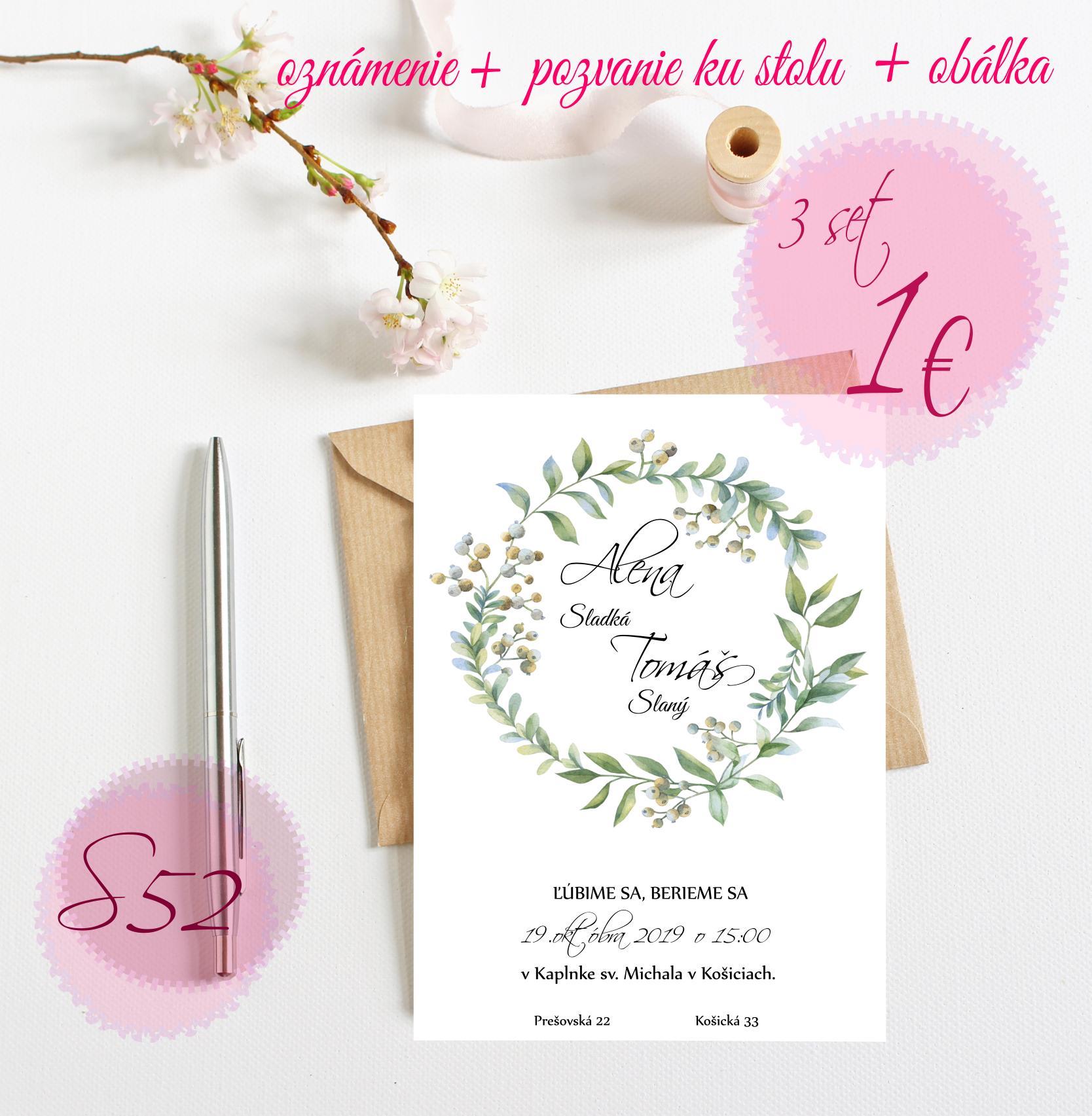 zelené svadobné oznámenia - Obrázok č. 7
