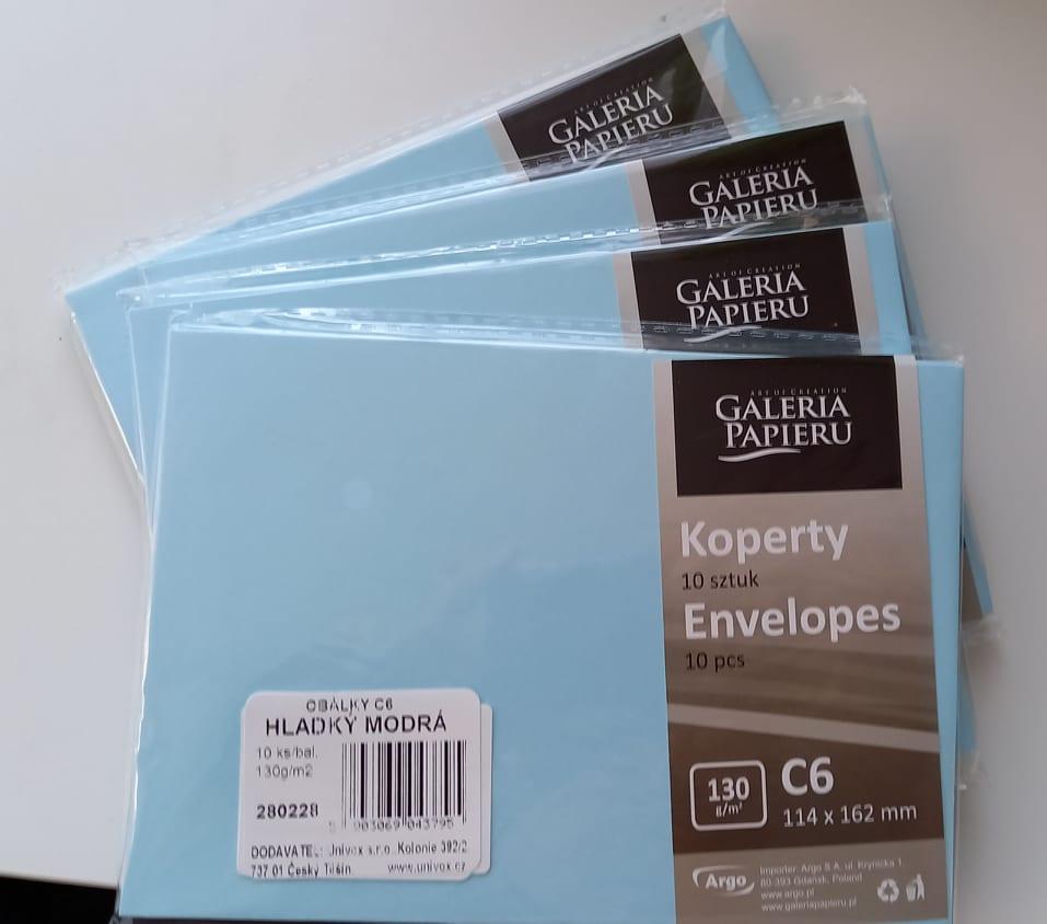 Světle modré obálky (40 ks) - Obrázek č. 1