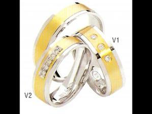 V2----Náše snubní-už se dělaji,jen dole ten proužek z bílého zlata nebude..Chceme jen nahoře