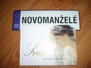 SPZ a svatební kniha hostů -obojí od schwestr - kuju :-)