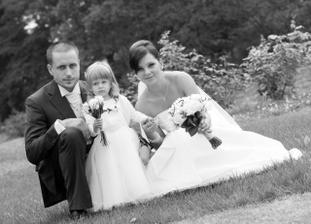 Já, manžel a naše dcerunka