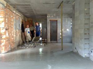Betónujeme druhé podlahy