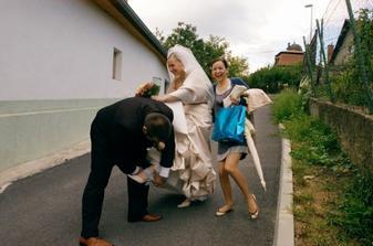 takto som este pred svadbou prisla o podvazok