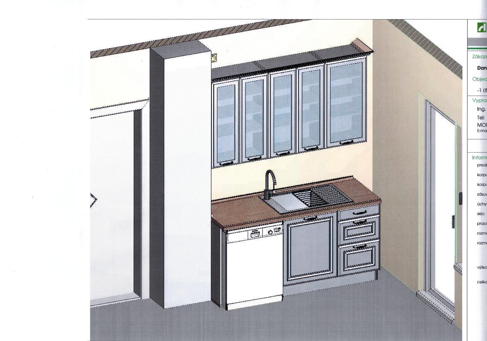 Dalsi level - zo stareho skoro nove - vizualizacia kuchynskej linky - decodom katy biela (aj ked to vo vizualizacii nevyzera)
