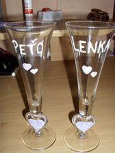 """Naše """"handmade"""" poháre... ;-)"""