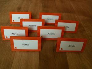 naše jmenovky na stůl