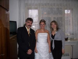 ...s mou svědkyní a manželovou sestrou...