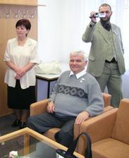 Víťova sestra s manželem a bráška kameraman