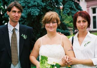 Nevěsta, bratr Roman a sestra Marta