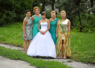 moje NAJ družičky - Ninka, Katuška, Ja, Veronika a Zuzička