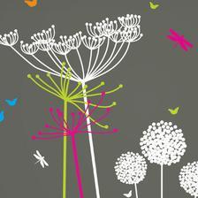 Dandelion stickers in playroom