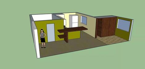 @zuzulik85 vizualizacia a stypy od Zuzky,ako prerobit kuchynu a chodbu,vyuzit velky priestor