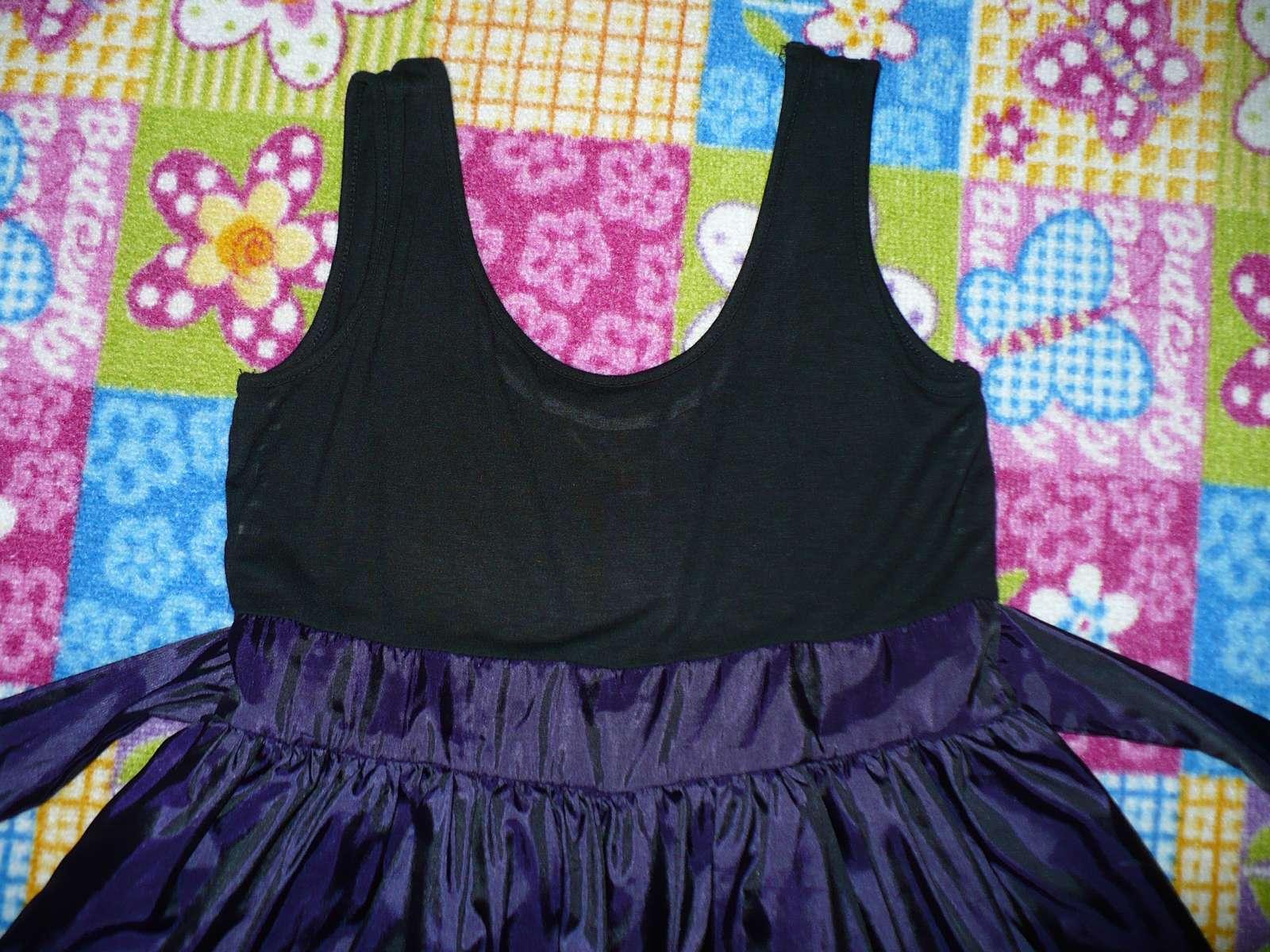 Fialovo čierne spoločenské šaty Y.d.  - Obrázok č. 4