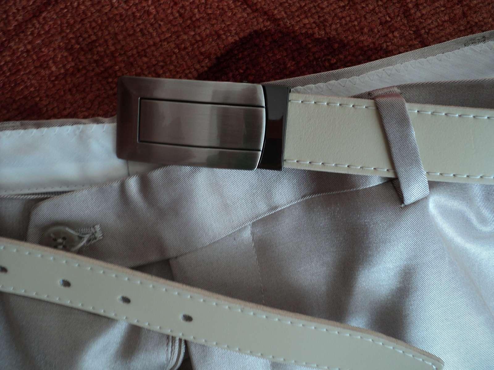 svetlý svadobný oblek-nohavice,sako,vesta - Obrázok č. 4