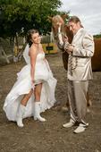 svetlý svadobný oblek-nohavice,sako,vesta, 44