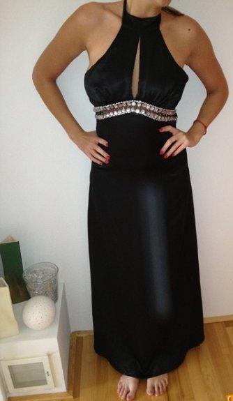 Spoločenské čierne šaty  - Obrázok č. 1