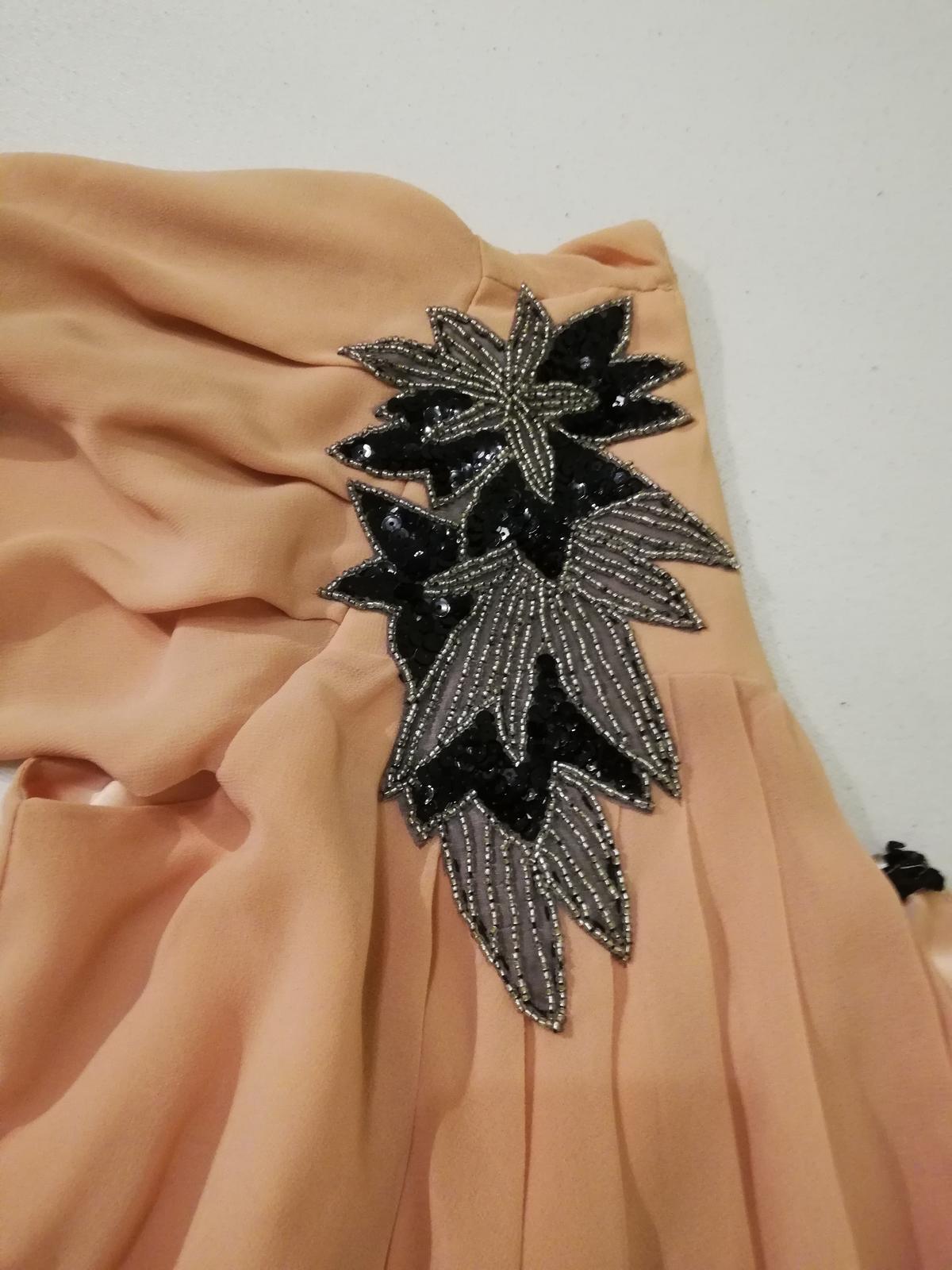 Pudrove šaty na jedno rameno  - Obrázok č. 3