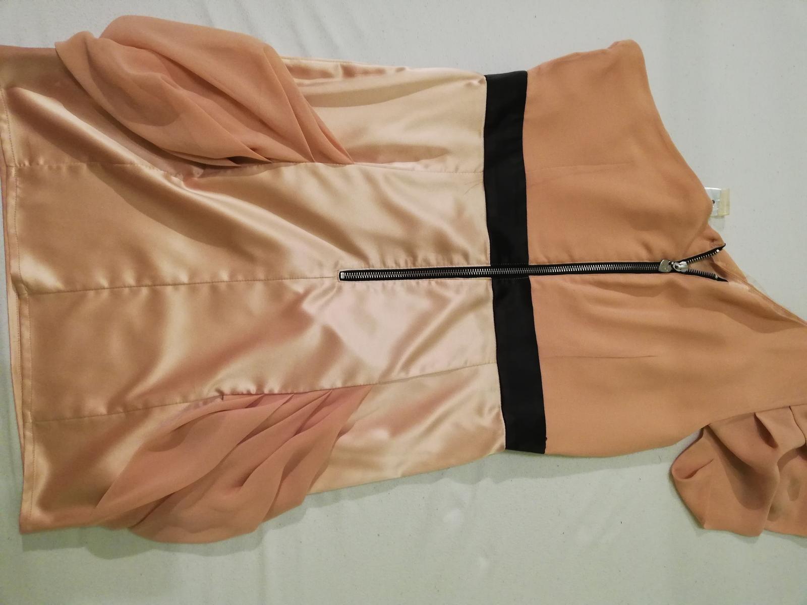 Pudrove šaty na jedno rameno  - Obrázok č. 4