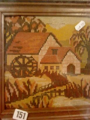 Flohmarkt - blšák, alebo burza - set na vyšívaný obrázok aj s rámikom, už len vyšiť (2€)