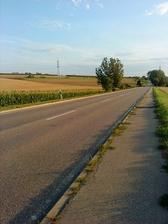 po vrátení auta, pešo domov 4 km......