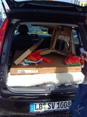 Nášteva v IKEA - naložené auto...