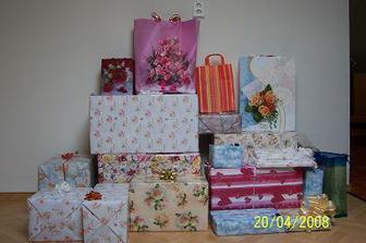 naše svatební dary
