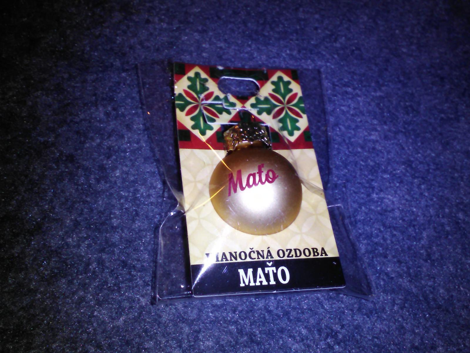 Mini pozlátená guľa Maťo - Obrázok č. 1