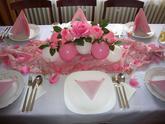 Balónková dekorace stolu