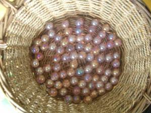 kuličky na stůl, růžové perleťové