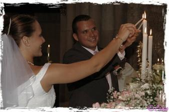 zapalujeme svíčku jako symbol společného života