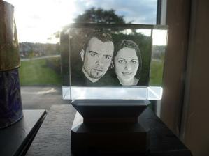 nas 3D portret v skle