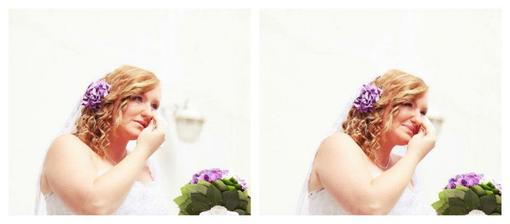první slzy - předávání kytičky :o)