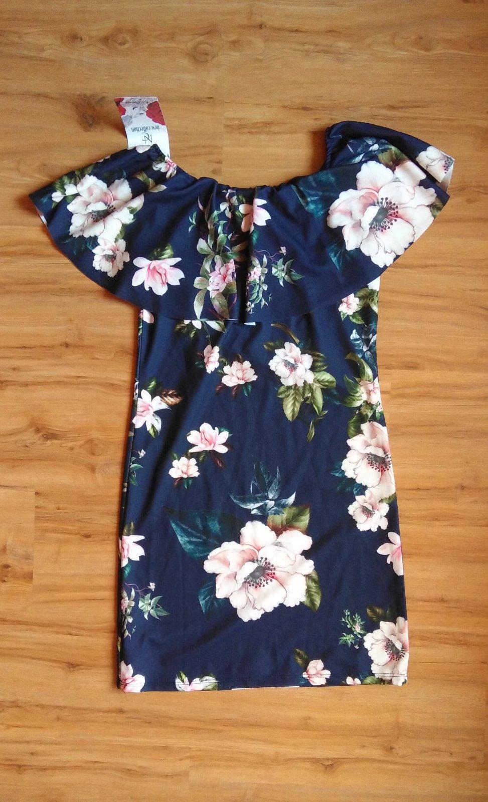 šaty s volánom na ramenách - Obrázok č. 1